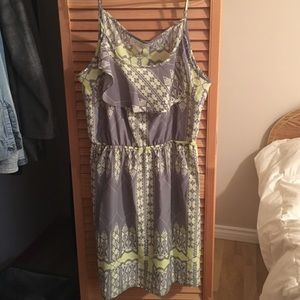 OLIVE & OAK Grey and Green Dress NWT 💚👗